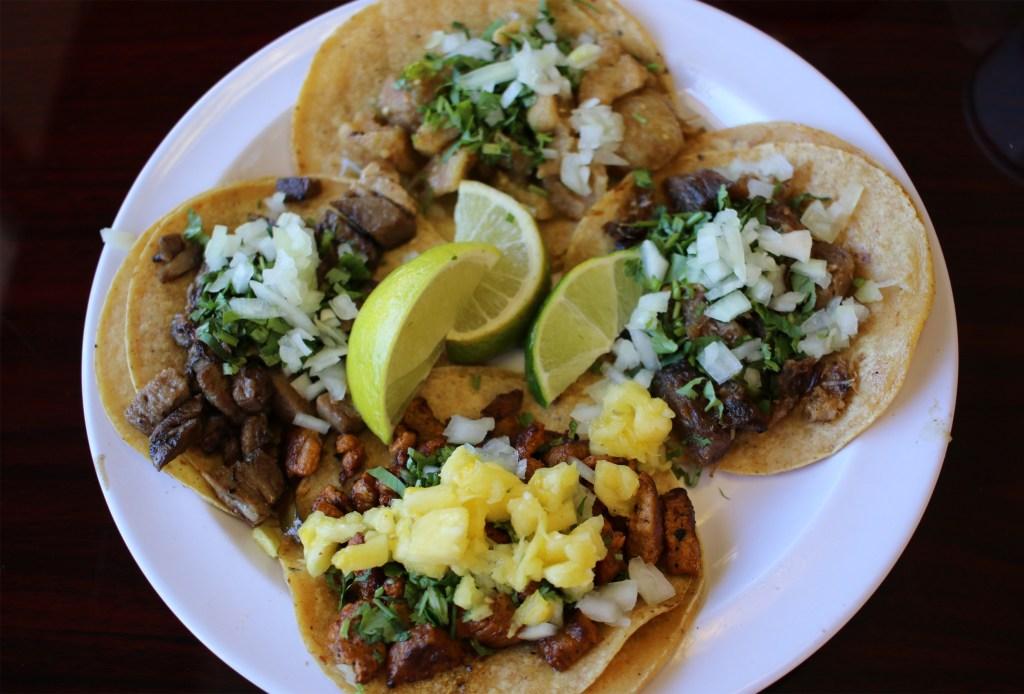 A photo of tacos from Los Potrillos