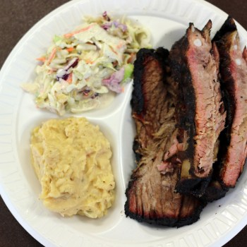 A photo of barbecue from Butler's Smokehouse in Shreveport