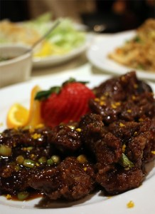 A photo of Chinese food