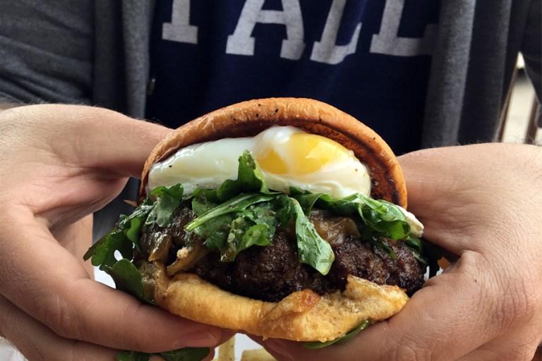 A burger from Fat Calf Boucherie