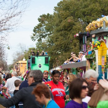 A photo of the Krewe of Highland Parade