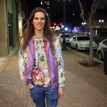 A photo of party organizer Justin Mooty