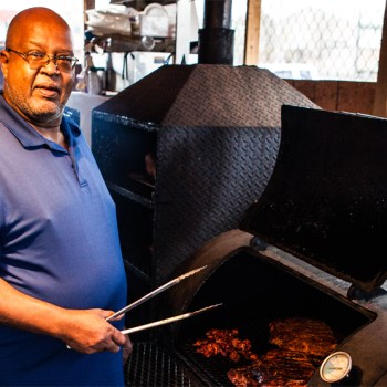 A photo of Real BBQ pitmaster Harvey Clay