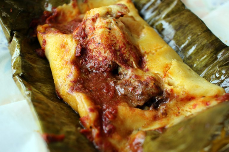 A photo of a tamale from the State Fair of Louisiana