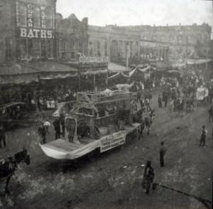 A photo of Shreveport Mardi Gras in 1899