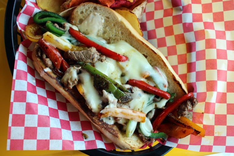 A photo of a Philly cheese steak
