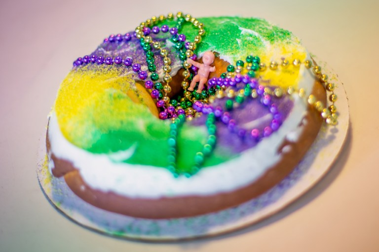 A photo of king cake