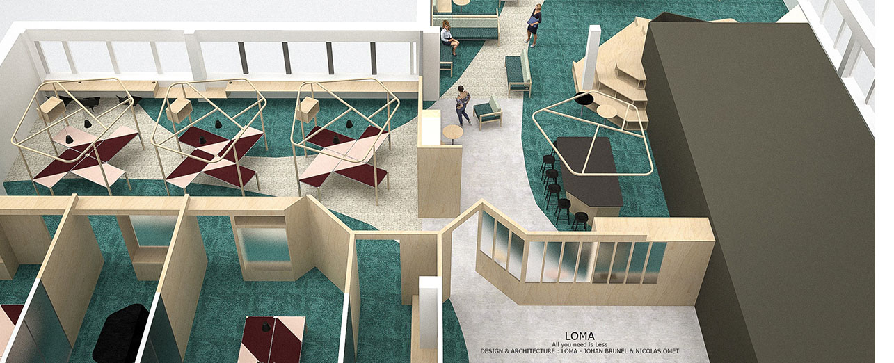 plan LOMA architectes designers 21 croix-rouge