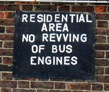 Sutton Bus Garage sign