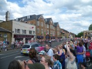 Crowds at Fairfield North, Saturday 28th July awaiting cycling men