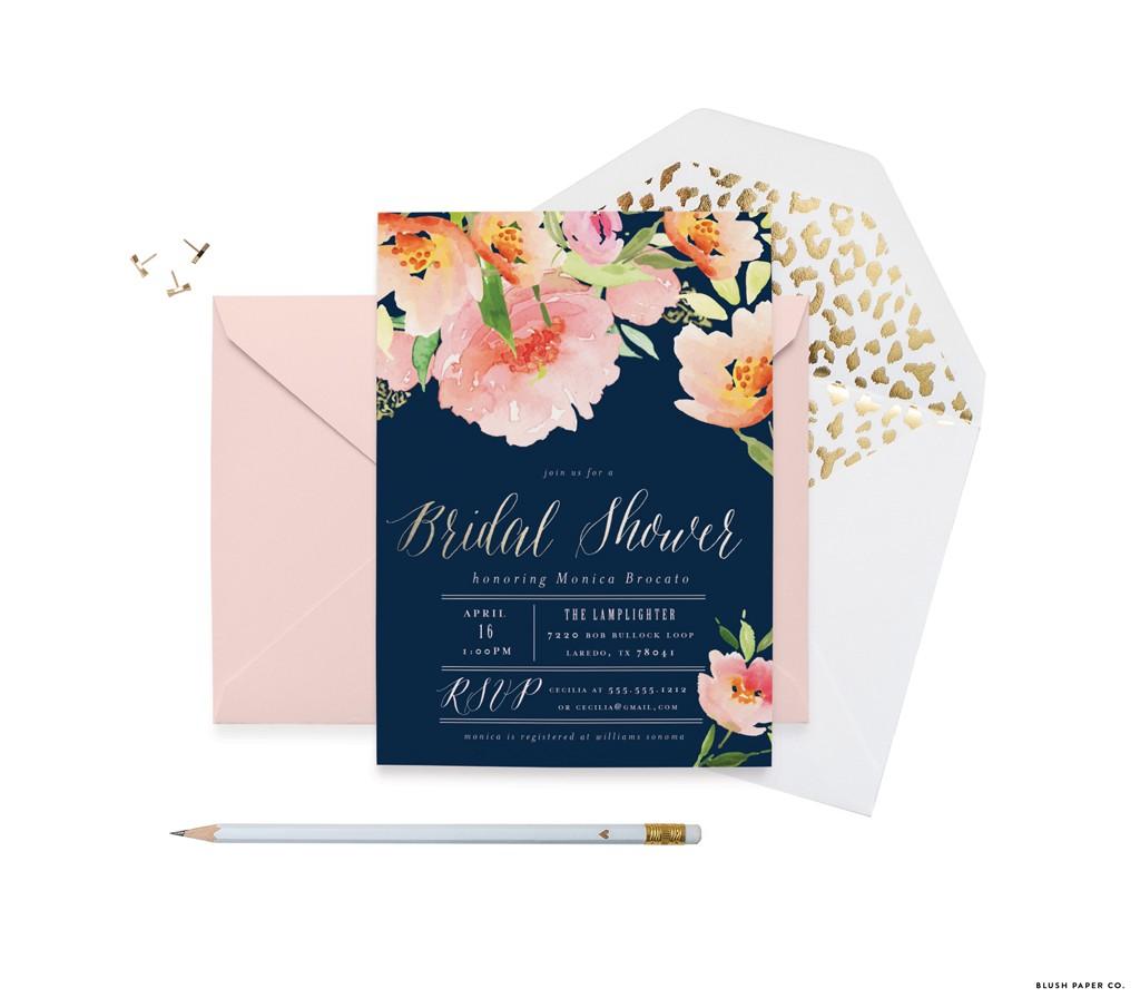 Botanical Bridal Shower Invitations by Blush Paper Co.