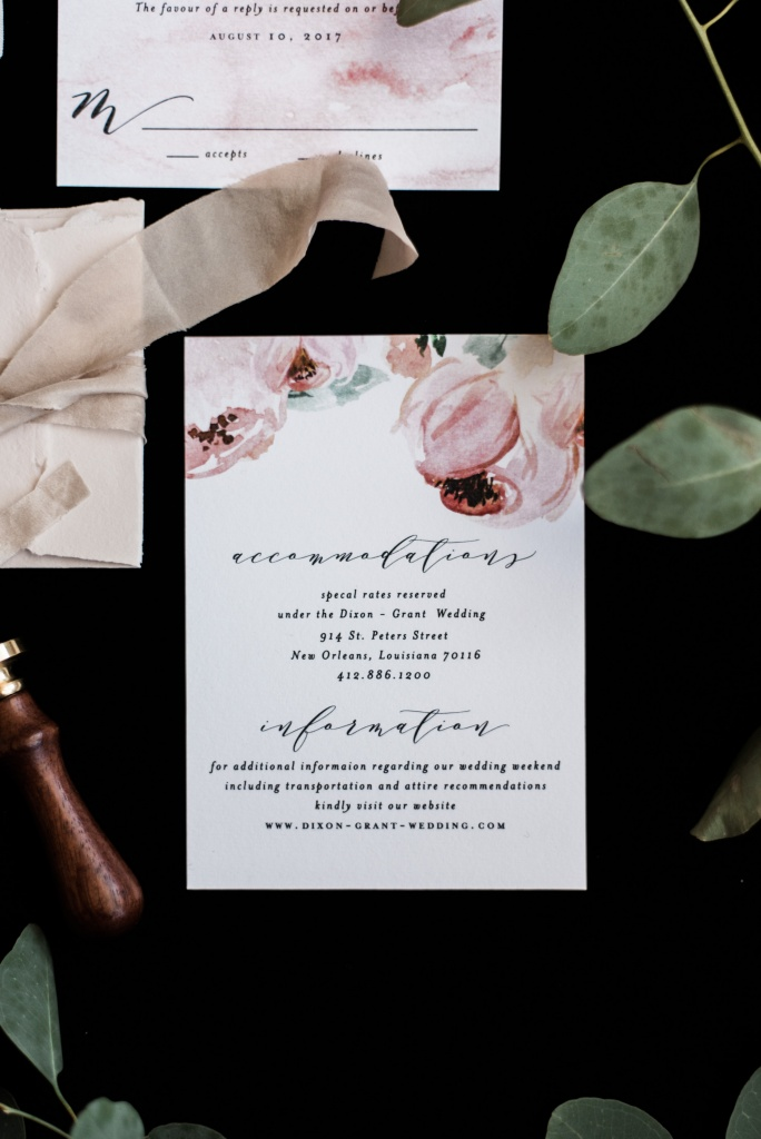 nature inspired floral wedding invitations | Blush Paper Co.