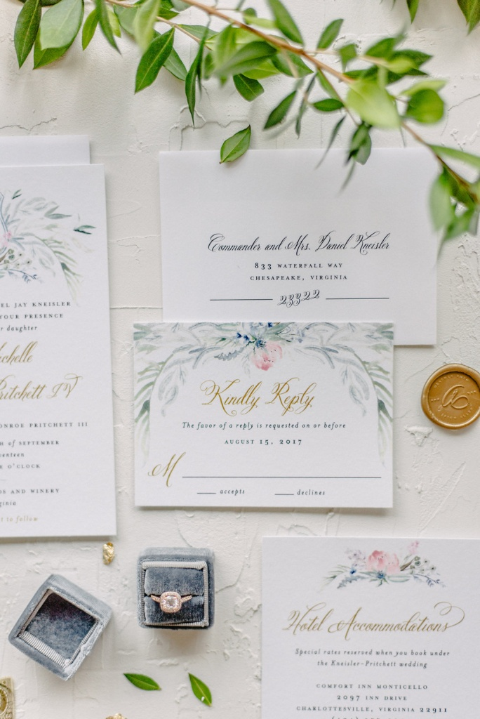 green and blue winery wedding | blush paper co.