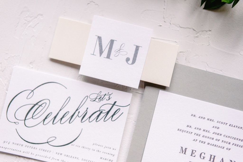 Wedding Monogram Belly Band Tag | Blush Paper Co.