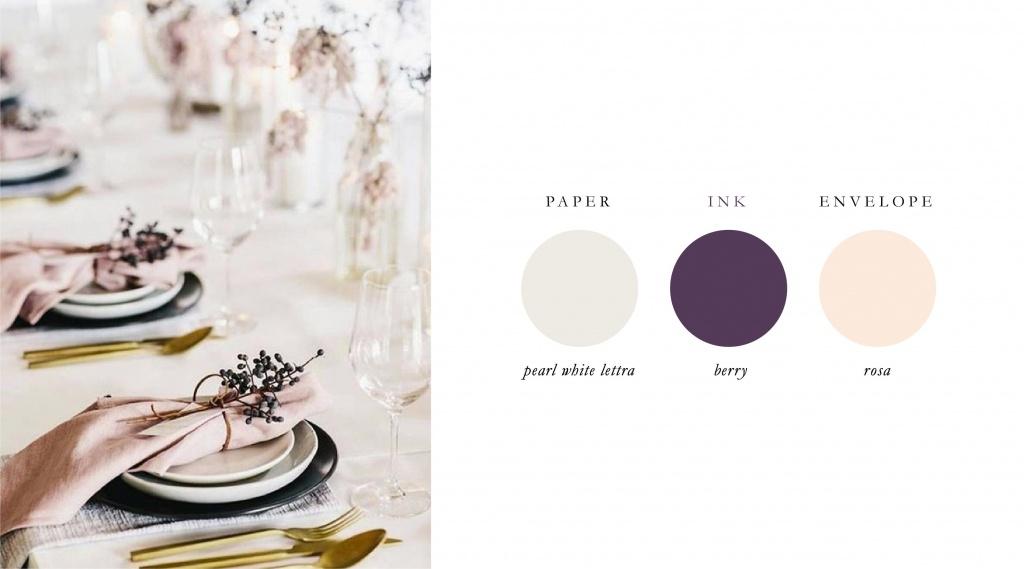 Modèles de couleurs populaires pour les mariages en 2018 | Blush Paper Co.