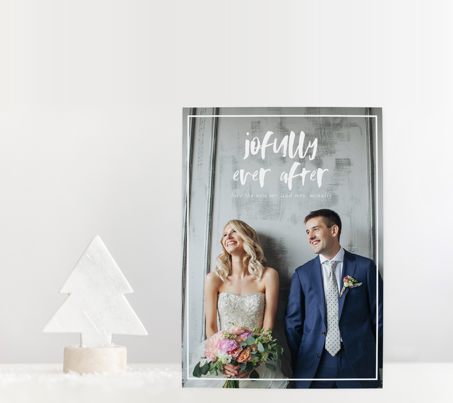 Newlywed Christmas Cards | Blush Paper Co.