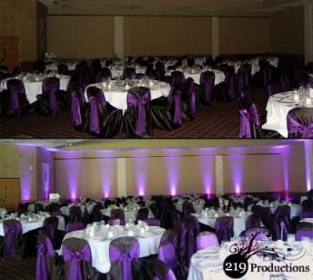 219 Productions - Northwest Indiana LED Uplighting at Villa Cesare