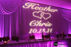 219 Productions - Northwest Indiana Custom Projection, Gobo, Monogram