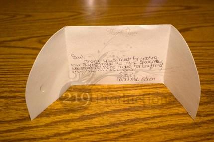 O'Brien Wedding Thank You Card Testimonial