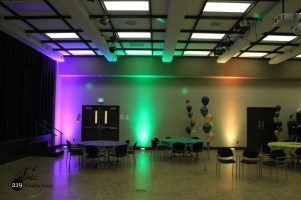 Purdue University Calumet Mardi Gras Madness Winter Dance Uplighting