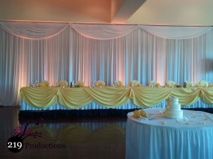 Avalon Manor Drapery and Uplighting