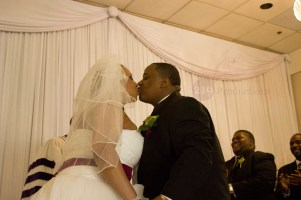 Harris Roberts Wedding Ceremony Kiss