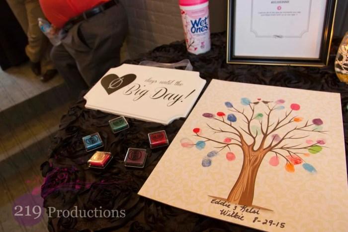 Uptown Center Guest Book Tree Fingerprint