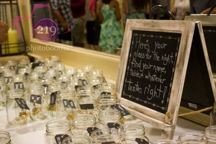 Banquets of St George Place Cards Mason Jars