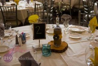 Signature Banquets Wedding Centerpiece Sunflower Rustic