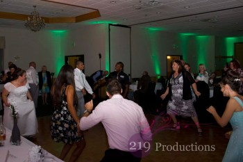 Green Uplighting DJ Patrician Banquets