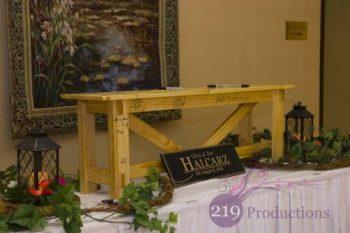 Hellenic Cultural Center Wedding Bench Guest Book