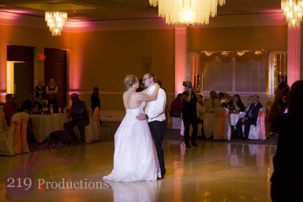 Hellenic Cultural Center Wedding Uplighting First Dance