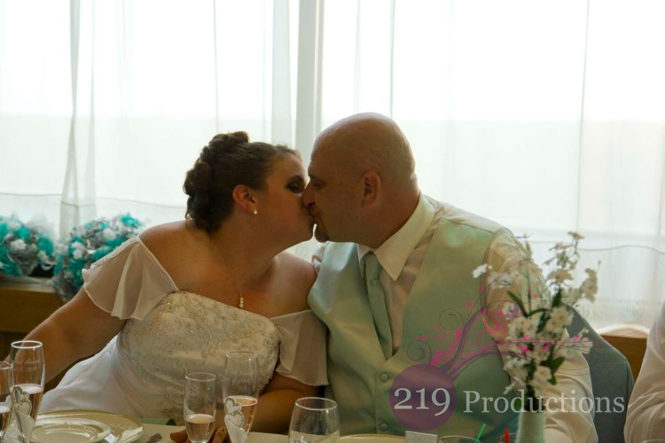 Patrician Banquets Wedding First Kiss