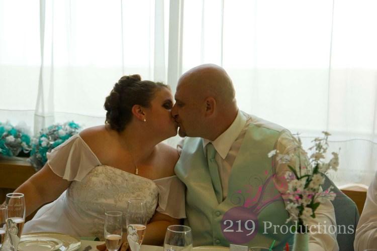 Patrician Banquets Wedding First Kiss