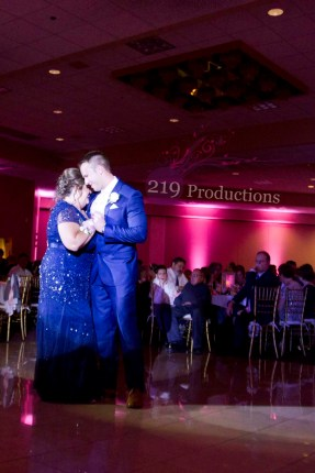 Villa Cesare Pink Uplighting Mother Son Dance Wedding
