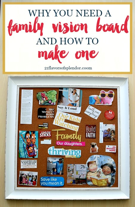 Making a family vision board is not only a fun way to spend time with your husband, but set goals. Click... #familygoals #parentinghack #visionboard
