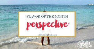 Flavor of the Month is Perspective