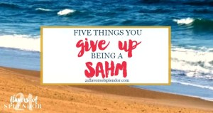 5 Things You Give Up Being a SAHM