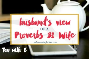 Husband's Unique View Of A Proverbs 31 Wife