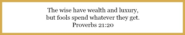 Proverbs 21:20 on why we love financial peace university at 21flavorsofsplendor.com