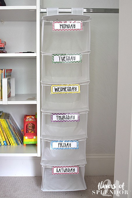 brilliant daily outfit organizer girl