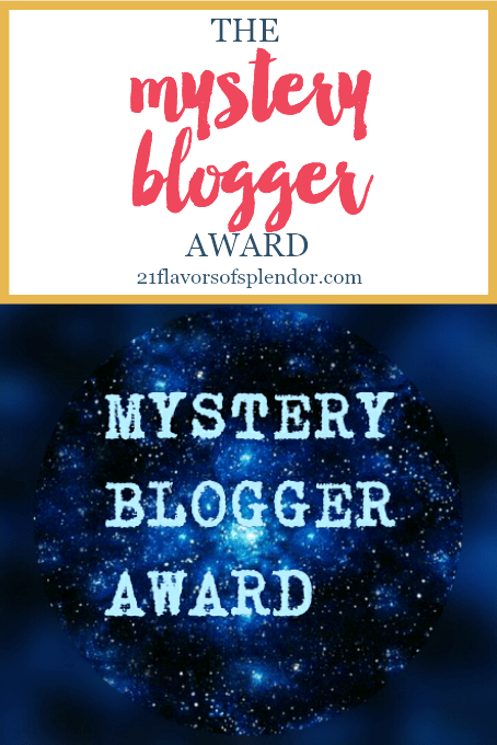 The blogging world may be large, but it's all about community. I am so blessed and honored to have been nominated for the Mystery Blogger Award. Click...
