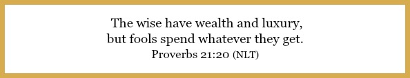 Proverbs 21:20 on Flavor of the month budgeting at 21flavorsofspelndor.com