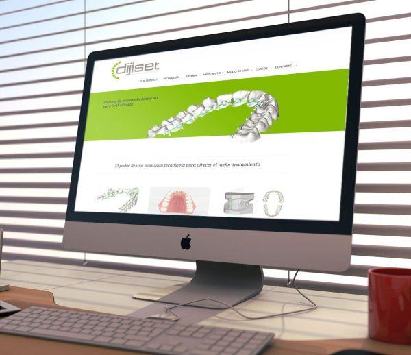 Diseño web del sector salud de Dijiset, ortodoncia lingual, sector salud