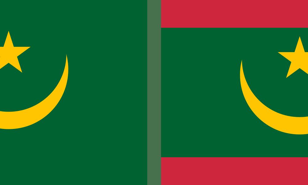 Nouveau drapeau pour la Mauritanie.