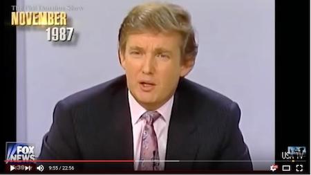 年轻时的川普(视频截图)