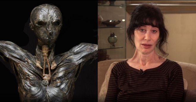 """艺术家吉莉安•格恩瑟和她的作品""""亚当"""""""