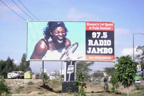 billboard on one of the city's busiest inlets and hotbet for the infamous Nairobi traffic jams