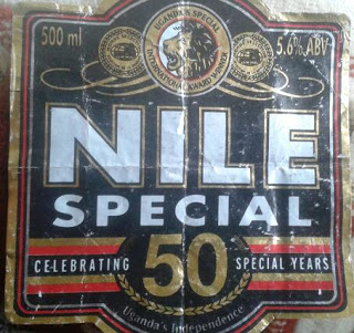 the tattared look of this special edition Nile Special beer bottle label tells the story of uganda which 50 years on from independence is worn down by a sruggle within itself over gay rights just as it did during the Kingdom of Baganda when missionaries arrived