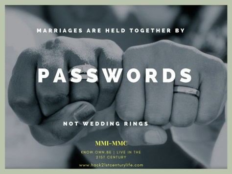 Snooping wisdom: marriages are not held together by passwords not wedding rings